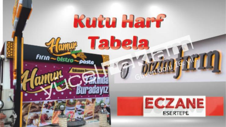 Ankara Kutu Harf Tabela İmalatı